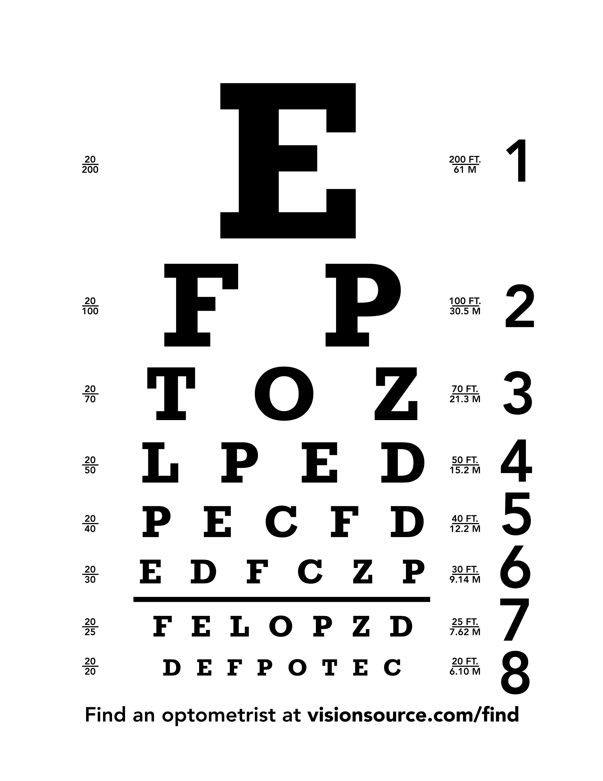 This is a picture of Exceptional Printable Eye Test Charts